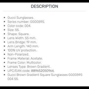 Gucci Accessories - Auth Gucci purple/white tiger floral sunglasses